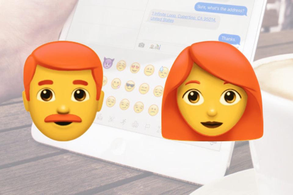 Apple Redhead Ginger Emoji