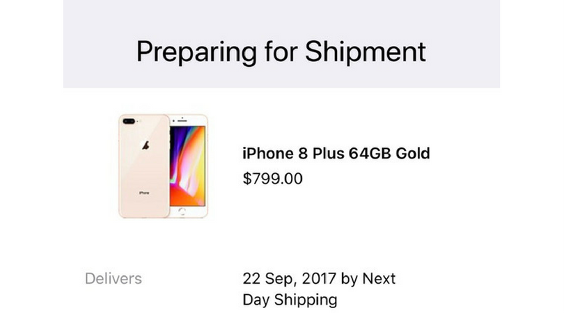 iPhone 8 Shipping