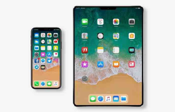 iPad Pro concept based on iPhone X imagines device without Touch ID featuring a bezel-less display