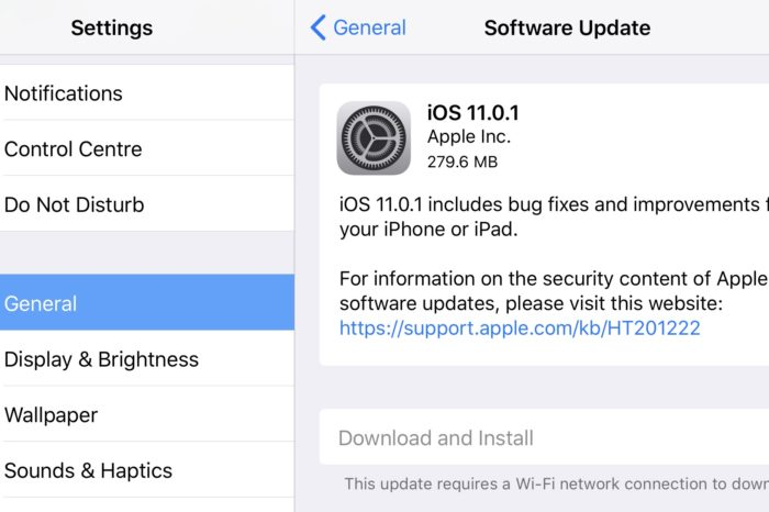 Apple releases new iOS 11.0.1 bug fixing update