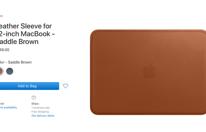Apple launches 12-inch MacBook leather sleeve accessory