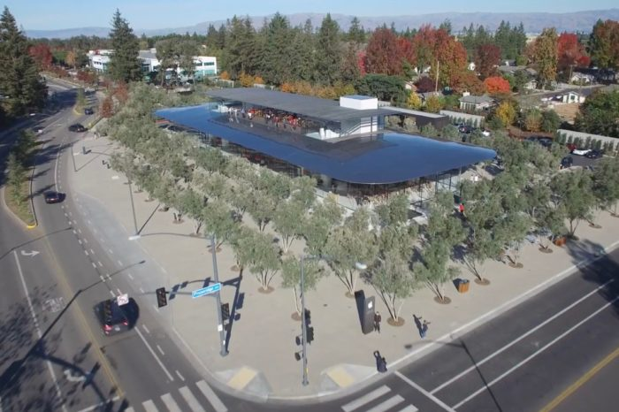 4K drone footage explores new Apple Park Visitor Centre from the sky