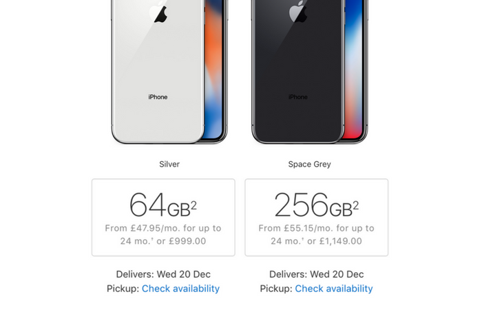 Apple offering next-day iPhone X deliveries in United States and United Kingdom