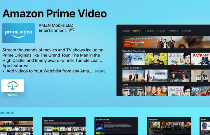 Amazon Prime Video launches on the Apple TV App Store
