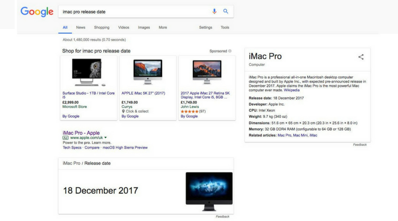 iMac Pro 18th December