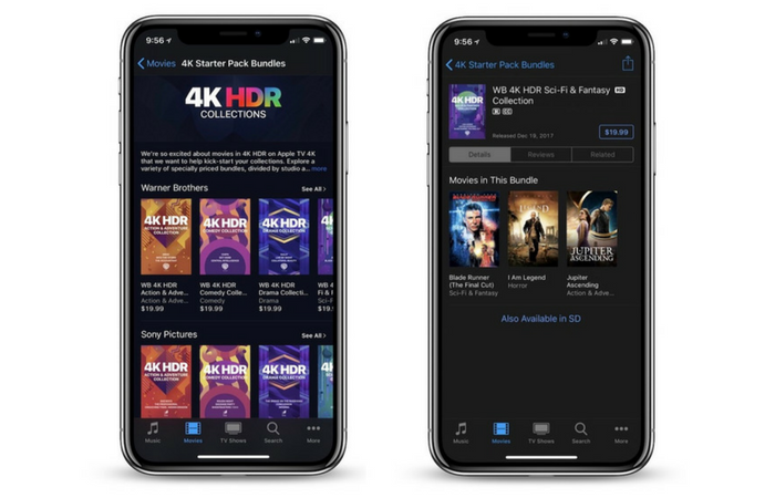 Apple launches iTunes Sale with 4K HDR movie bundles from $19.99