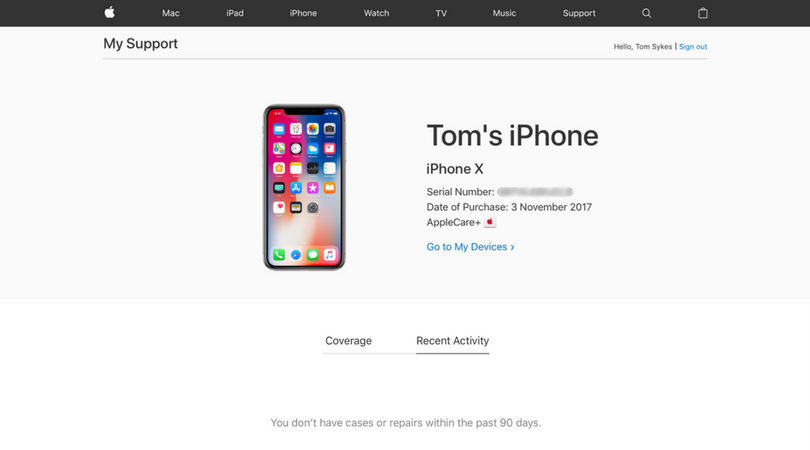 AppleCare Warranty Coverage
