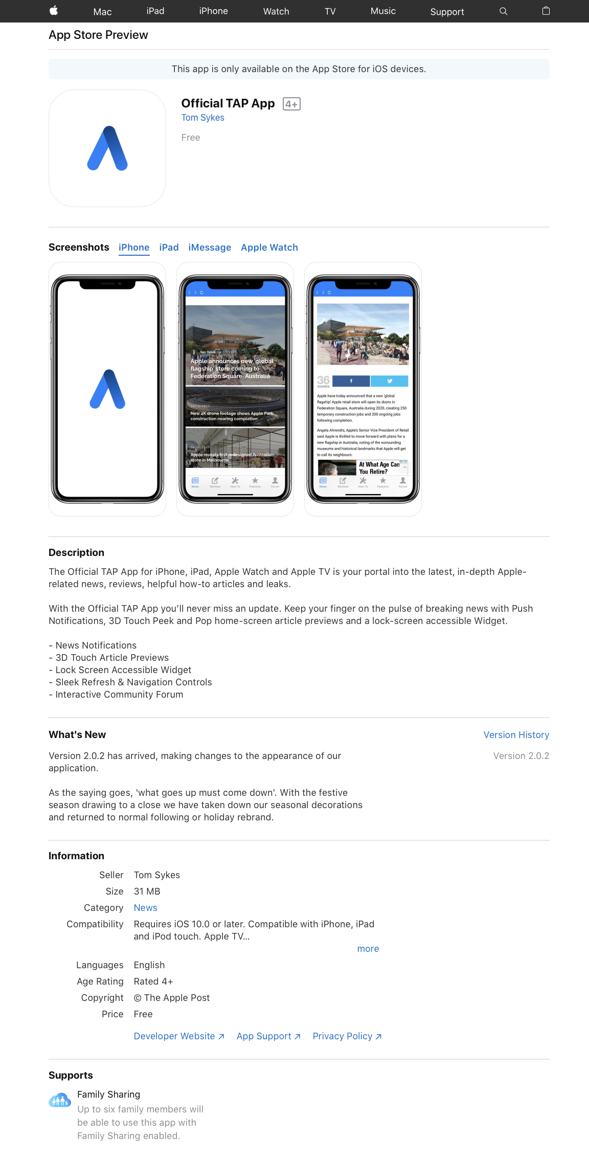 App Store Web Previews