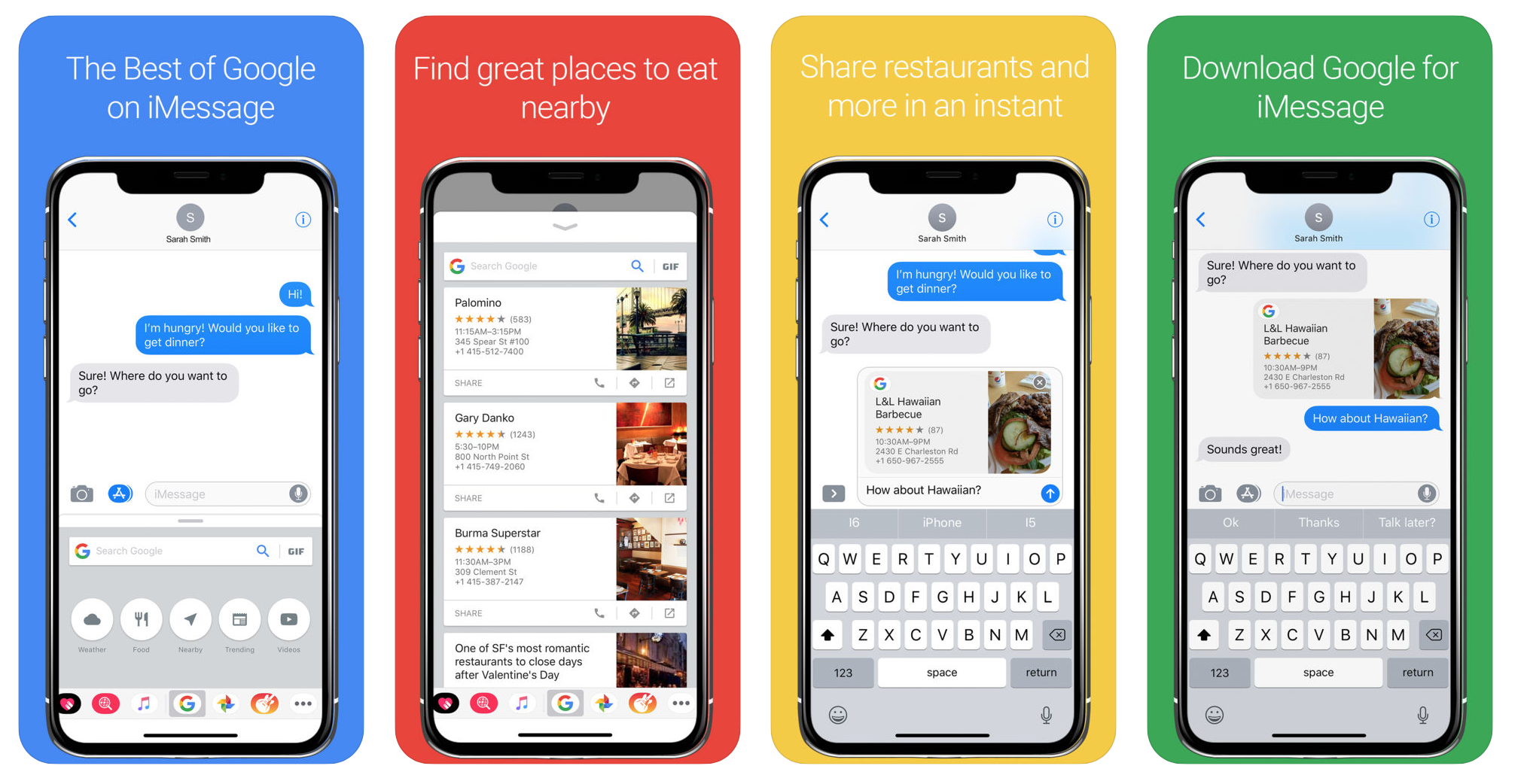 Google Search App for iMessage