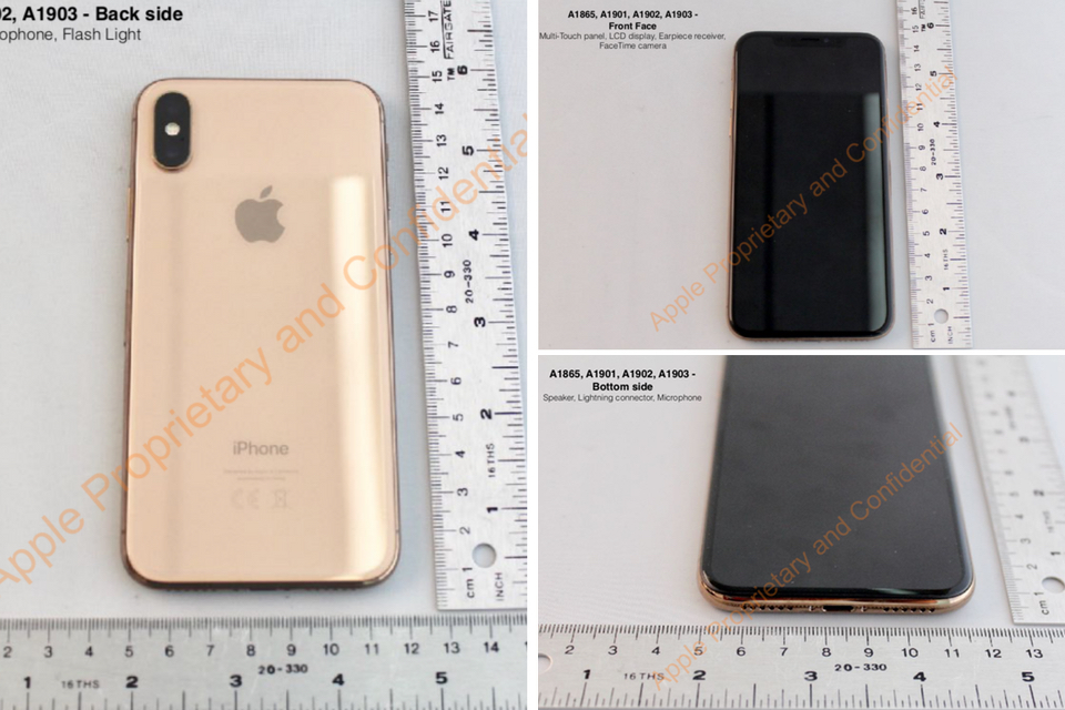 FCC Gold iPhone X