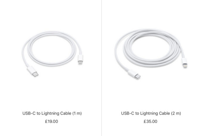 Apple cuts price of USB-C to Lightning Cable