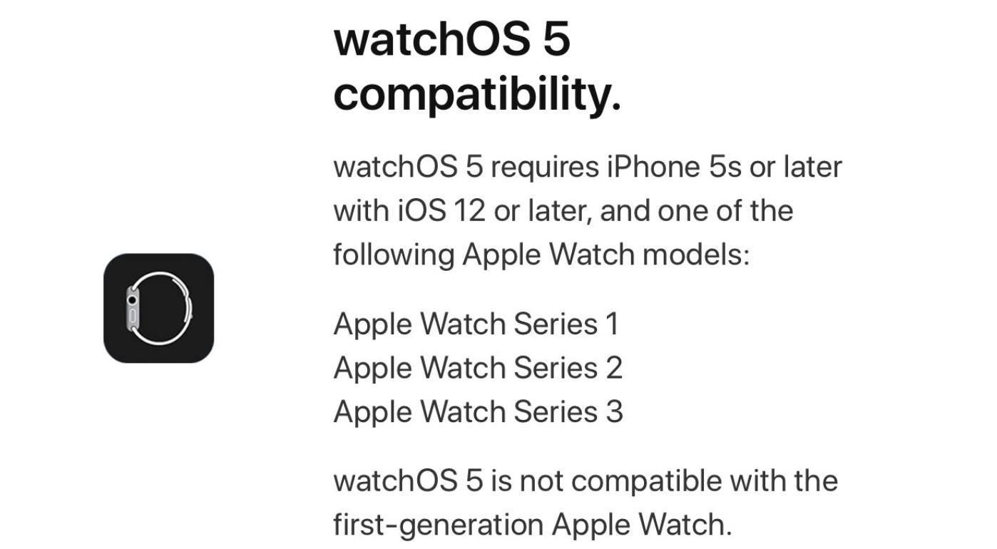 watchOS 5 Compatibility
