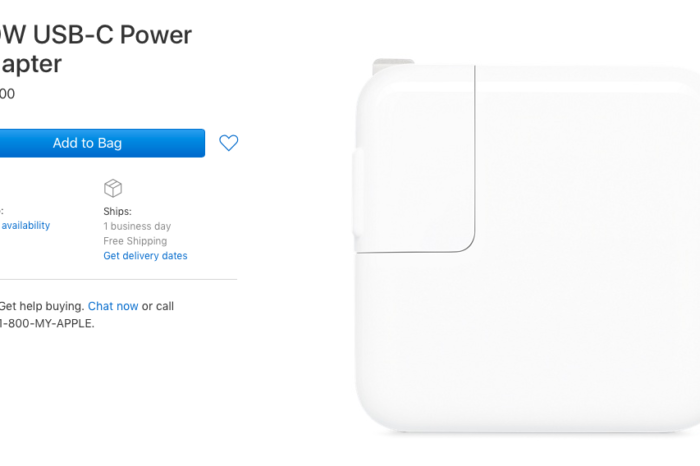Apple releases new 30W USB-C power adapter