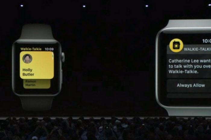 watchOS 5 includes new Walkie-Talkie feature