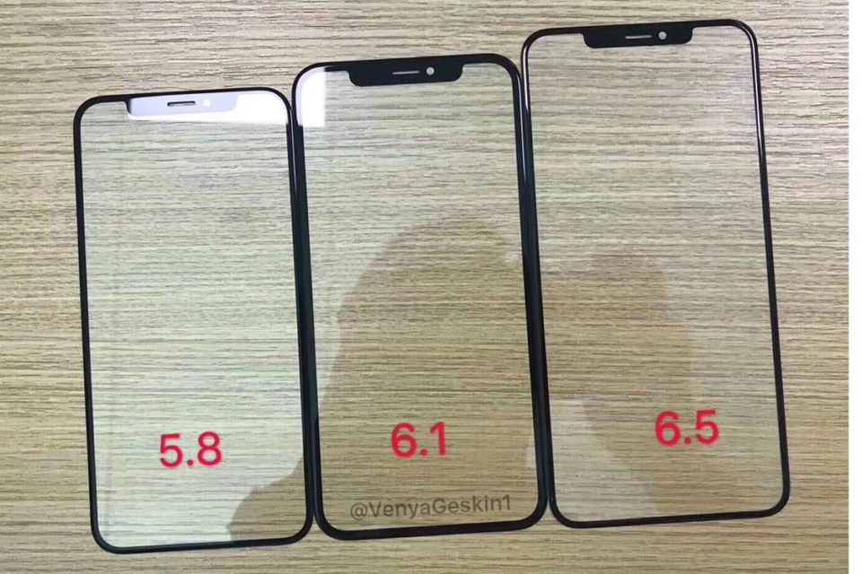 2018 iPhone panels appear in first leak