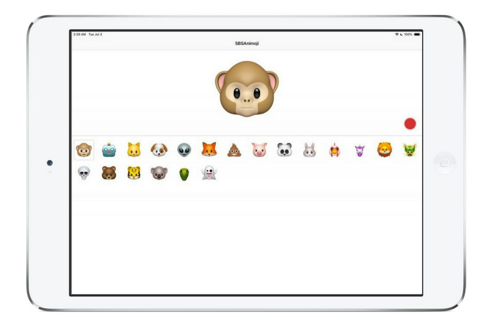Animoji on iPad
