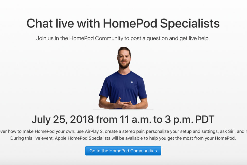 HomePod Live Event