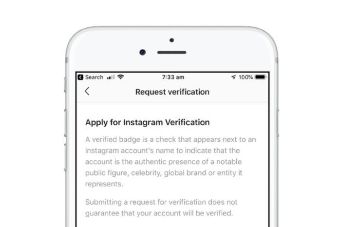 Instagram now accepting public verification requests