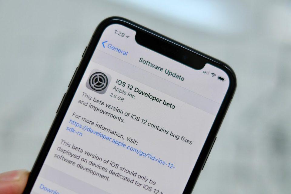 iOS 12 beta 4 released to developers