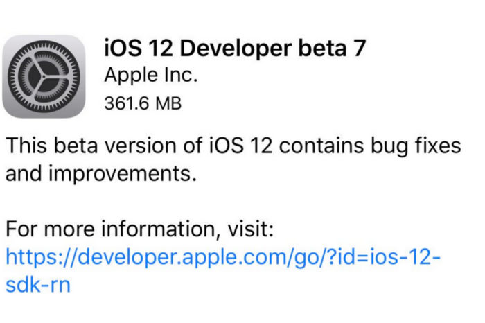 Apple removes iOS 12 beta 7 OTA update due to poor performance