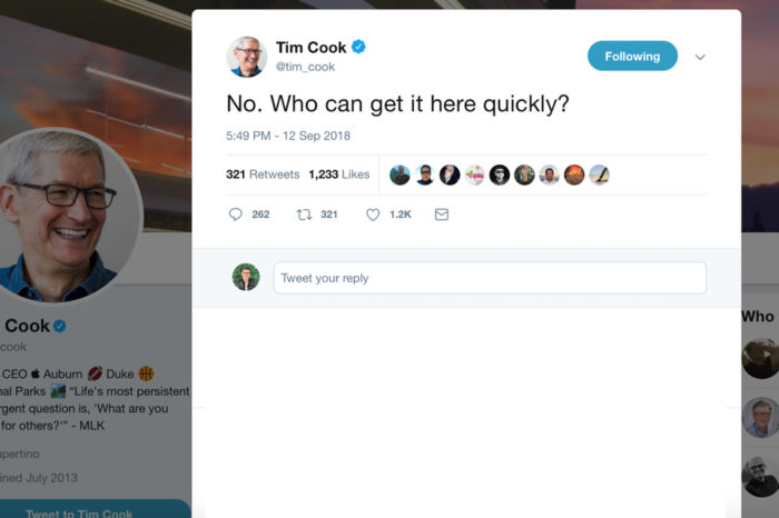 Tim Cook pranked everyone with his 'accidental' Twitter DM yesterday
