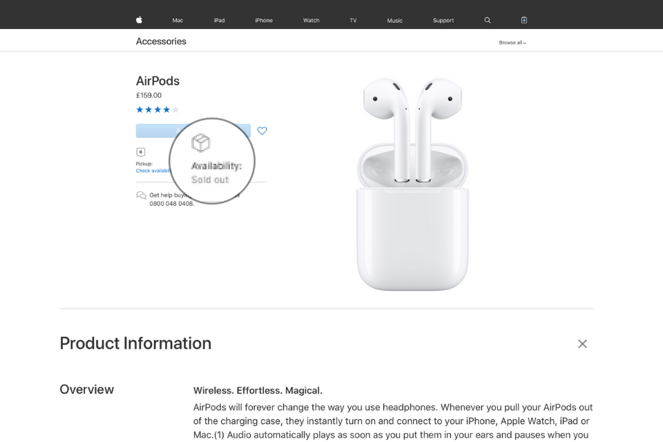 AirPods - Sold Out