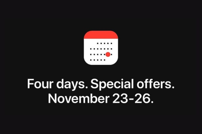 Apple hosting 'four days of special offers' event from Black Friday through Cyber Monday