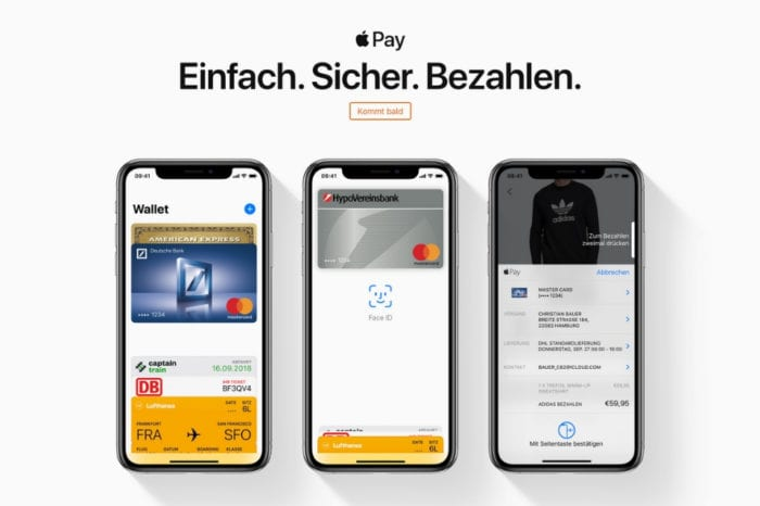 Apple.com shows Apple Pay 'coming soon' in Germany