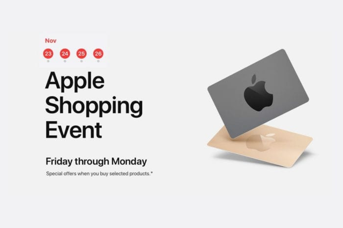 Apple kickstarts four-day 'shopping event.' offering free gift cards with purchases of products