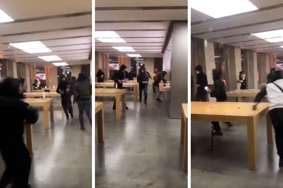 Video shows rioters breaking into Bordeaux Apple Store during Yellow Vest Protests