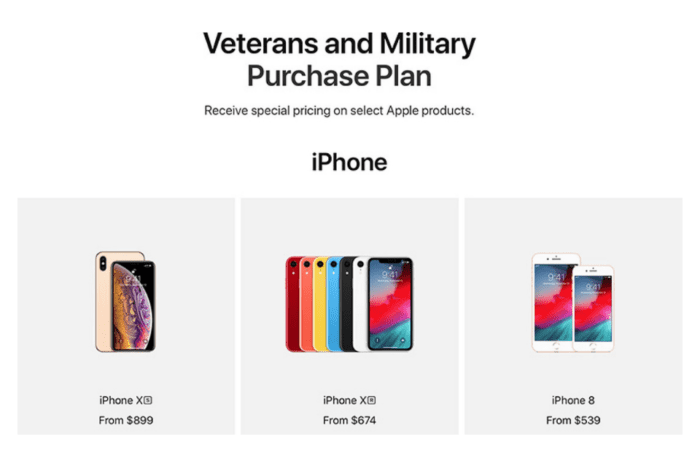 Apple launches new online Veterans and Military Purchase Plan, offering 10 percent discount on products