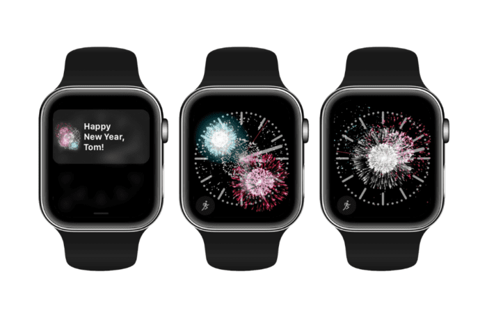 Apple celebrates New Year with special firework display on Apple Watch