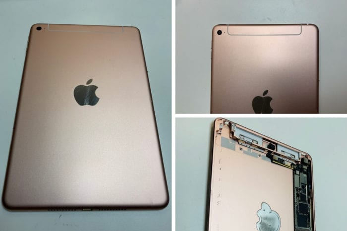Images show unreleased iPad hardware, possibly the rumored iPad mini 5