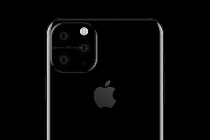 Renders claim to depict early stage 'iPhone 11' prototypes, featuring square camera bump and three rear cameras