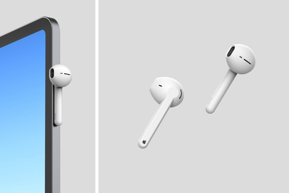 Concepts imagine redesigned AirPods, featuring magnetic charging, new semi-rectangular chamber design, and more