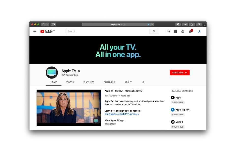 Apple launches new 'Apple TV' YouTube channel | The Apple Post