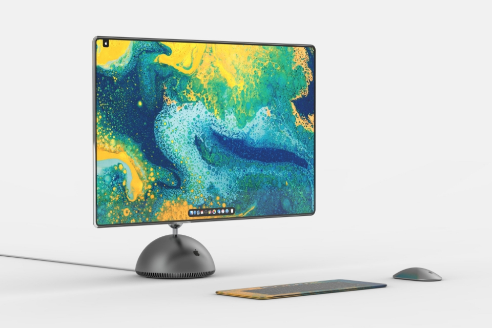 7b673ae7a30 Visualizations show all-new iMac G4 with edge-to-edge display, multi-touch  keyboard, and more
