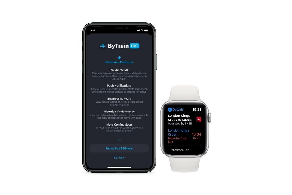 ByTrain launches new £9.99 'ByTrain Pro' subscription with Apple Watch support, London Underground line statuses, and more