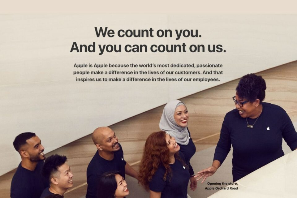 Apple touts employee benefits in new 'Jobs at Apple' webpage