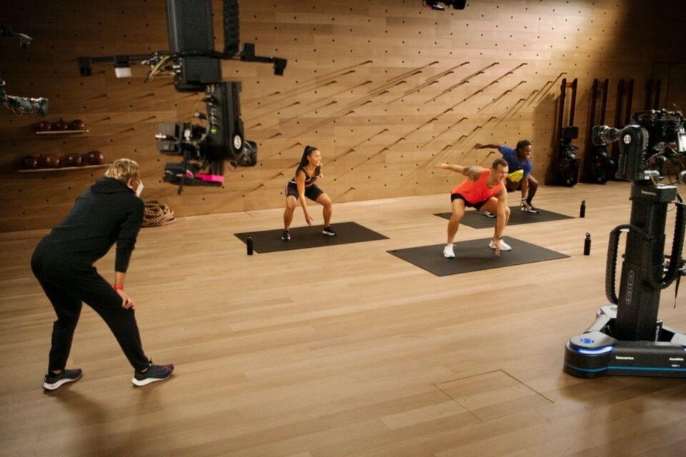 Inside the 23,000 square-foot Apple Fitness+ studio